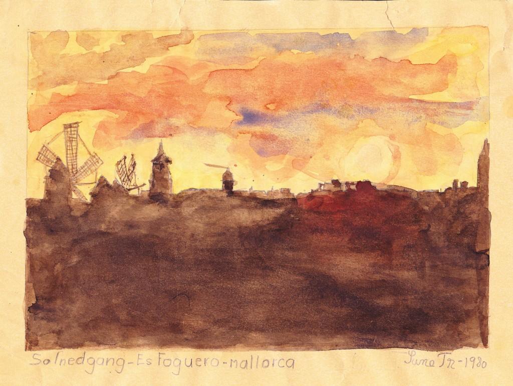 Solnedgang - Es Fuego - Mallorca (1980)
